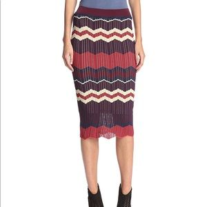 Ronny Kobo   Opal Skirt in Bordeaux. NWT